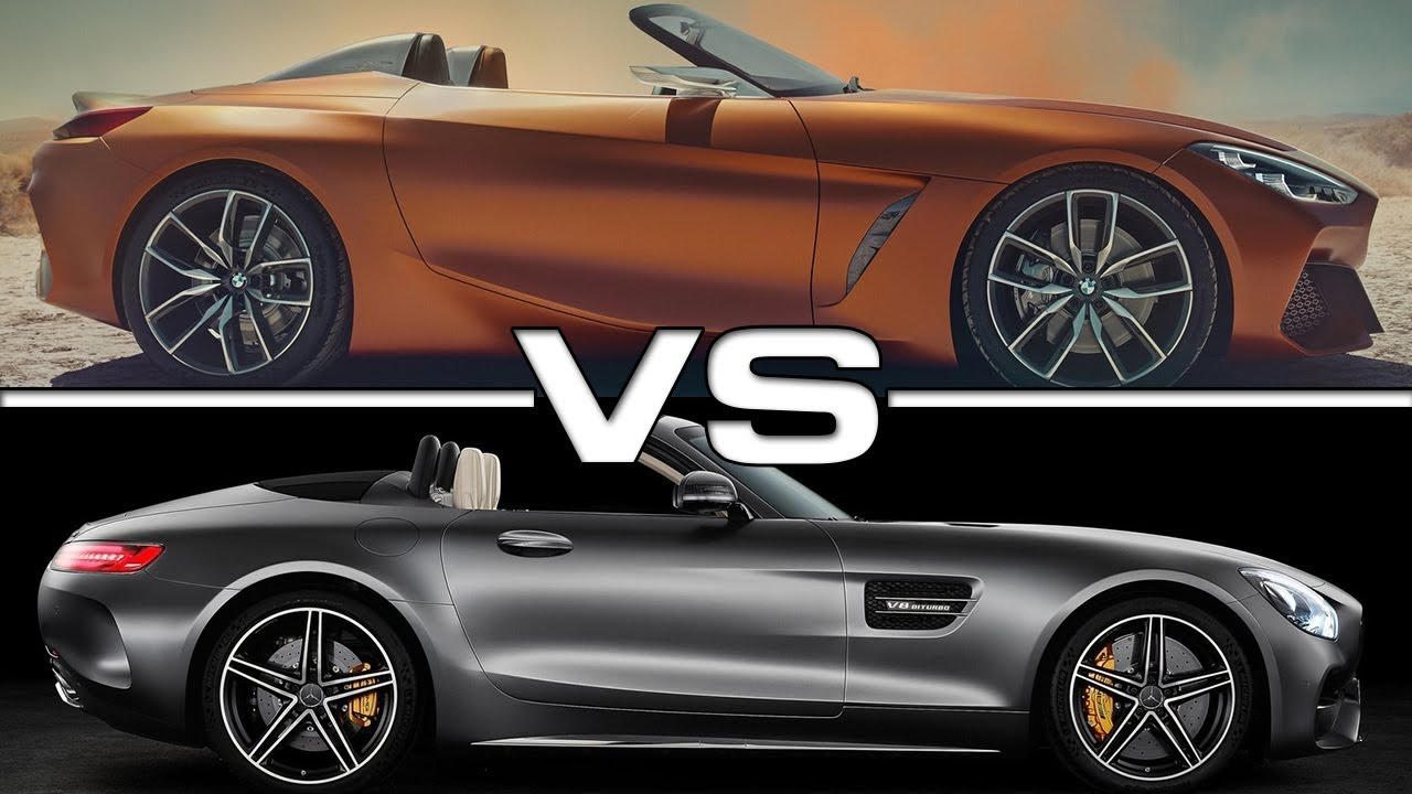 2018 Bmw Z4 Concept Vs 2018 Mercedes Amg Gt C Roadster Youtube