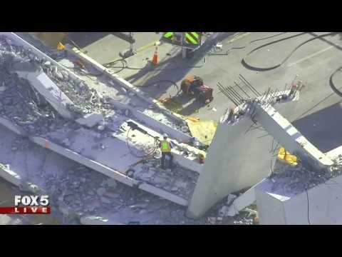 Bridge collapse in South Florida