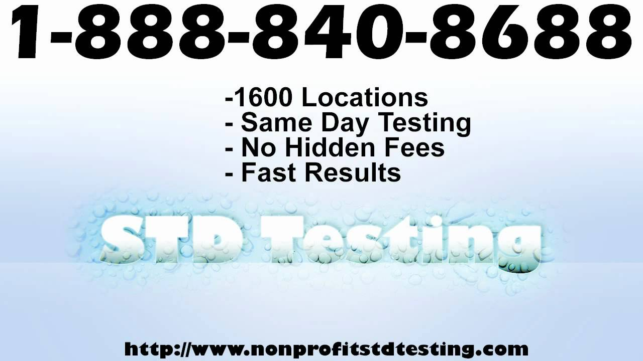 Std Testing Texas 1 888 840 8688 Youtube