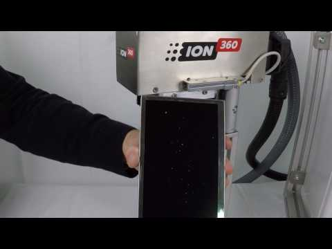 ION360 Demo Video 1: TFT Screen electrostatic cleaning.