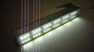 видео светодиодный консольный светильник