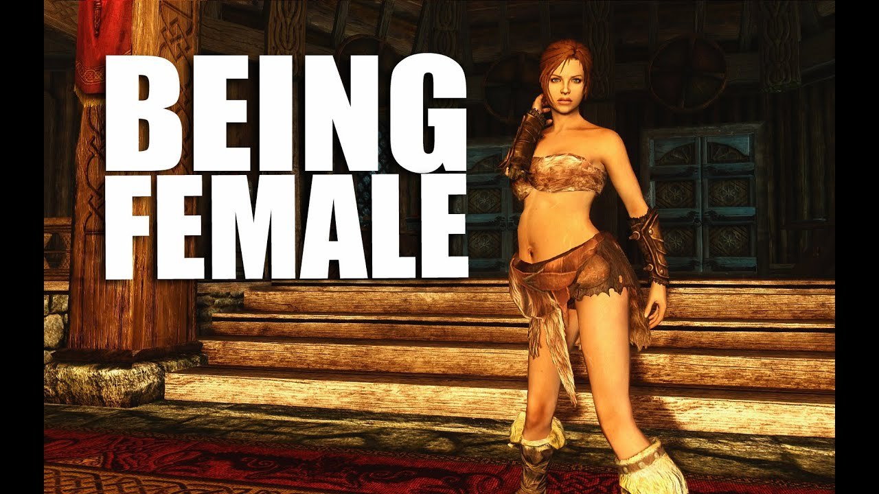skyrim being female