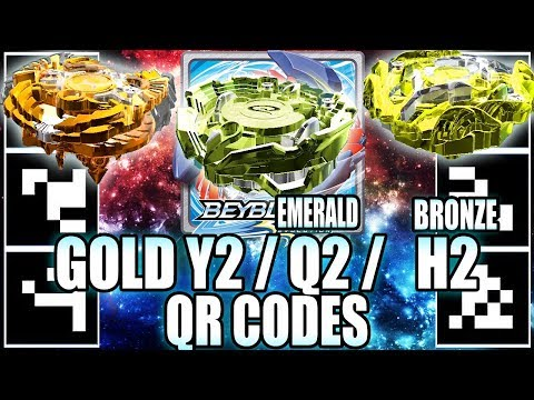 QR CODES GOLDEN YEGDRION BRONZE HORUSHOOD & EMERALD QUETZIKO! - BEYBLADE BURST APP QR CODES