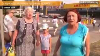 Жители Донбасса с каждым днем все больше ненавидят русских террористов  Видео  Донецк,Луганск