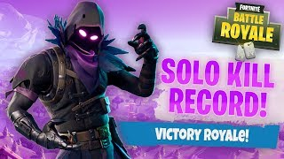 I BEAT MY SOLO KILL RECORD WIN with the new RAVEN SKIN!!!! Fortnite: Battle Royale