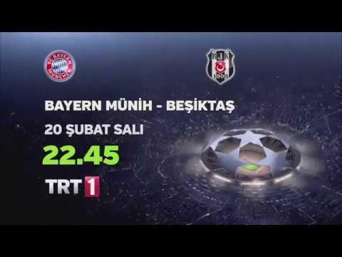 Bayern Münih - Beşiktaş Maçı Canlı Yayın izle 20 Şubat 2018 TRT Canlı izle