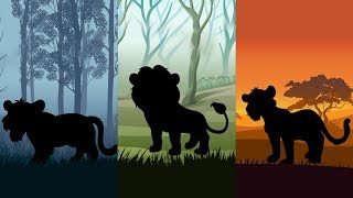 Wild Animals Puzzle for Kids | Learn Wild Animals with Animation For Children | A&A kids TV