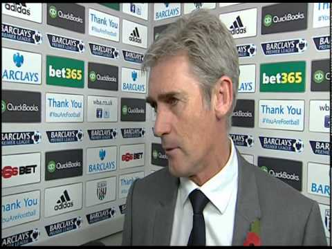 Alan Irvine on West Bromwich Albion's 2-2 Barclays Premier League draw with Crystal Palace