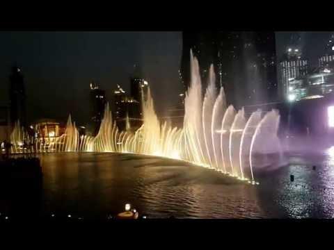 Dubai Fountain Sehenswürdigkeit - Wassershow - Iman (Shiraz - Jihad Akl)