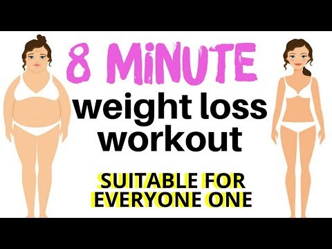 WEIGHT LOSS WORKOUT – QUICK HOME FITNESS EXERCISE VIDEO WITH THE BEST EXERCISES FOR WEIGHT LOSS