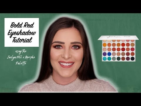 Bold Red Eyeshadow Tutorial using the Jaclyn Hill x Morphe Palette (with a full face of makeup) thumbnail