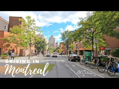 Driving In Montreal From Plateau Mont Royal To Old Port Of Montreal #montreal2020 #oldmontreal