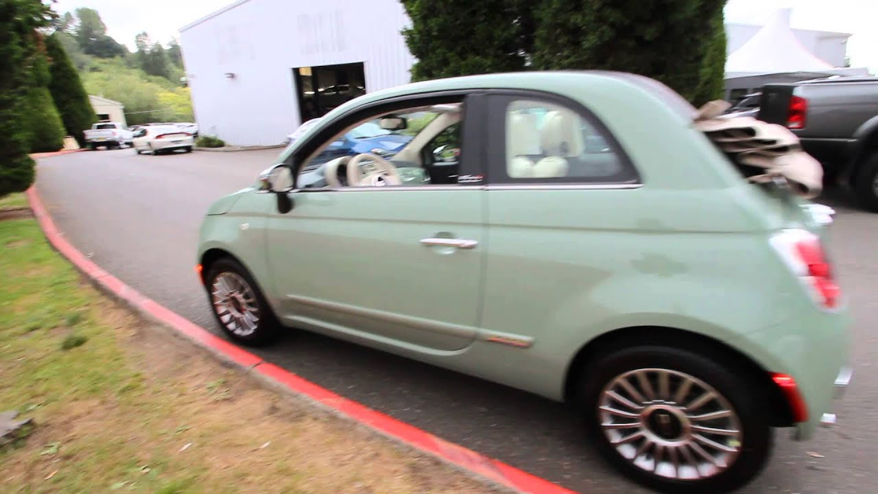 2015 fiat 500c lounge verde chiaro ft513783 redmond seattle youtube. Black Bedroom Furniture Sets. Home Design Ideas