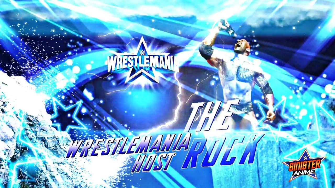 Download The Rock Hosts Wrestlemania 38 - Custom Match Card