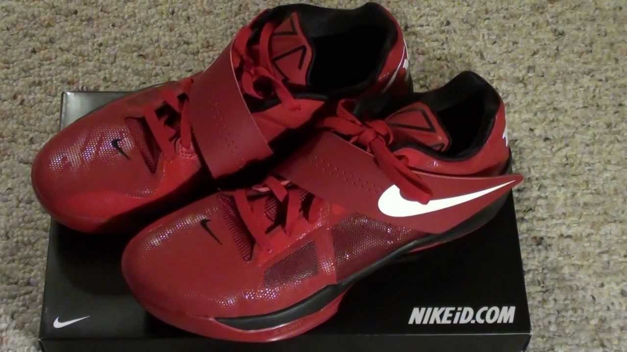 Nike Kevin Durant 4 custom id shoe review. Sick SHoes!!!