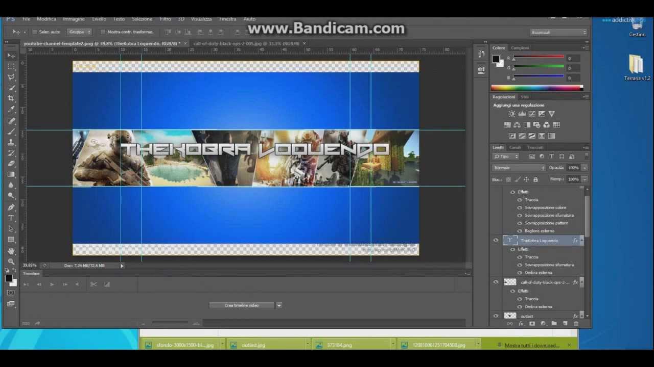 Banner/Layout YouTube 2014 Photoshop cs6 - YouTube