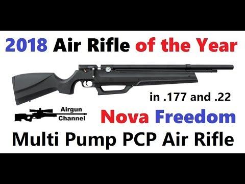 Nova Freedom Air Rifle Review (Air Rifle of the Year 2018) Built in PCP  Pump! Part #1