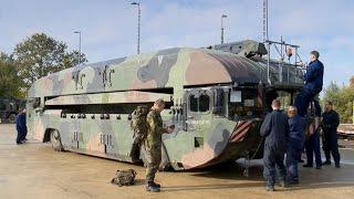 Trident Juncture 2015: Bahnverladung Amphibienfahrzeuge - Bundeswehr