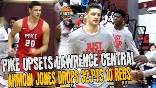 Ahmoni Jones Drops 32pts and10rebs to Helps Lead Pike to Upset Over Tough Lawrence Central Squad