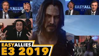 Cyberpunk 2077 w/ Keanu Reeves - Easy Allies Reactions - E3 2019