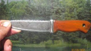 Самодельный нож из рапид пилы .
