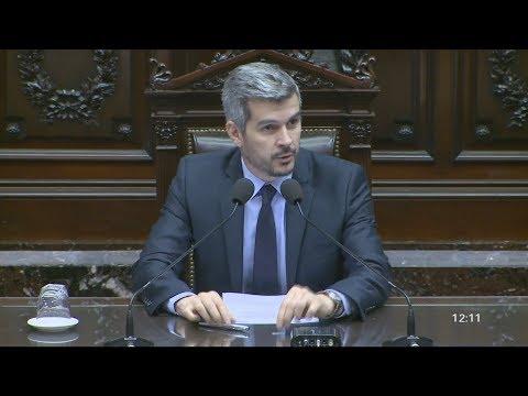 Marcos Peña brinda un nuevo informe de gestión ante la Cámara de Diputados