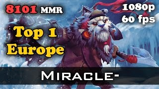 Miracle- Tusk 8101 MMR Ranked Match Dota 2