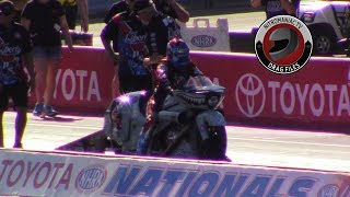2017 NHRA Toyota Nationals @ LVMS (Part 5 - Pro Stock Bike Qualifying session 1 Highlights)