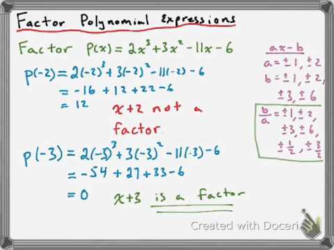 Factoring Polynomial Expressions of Degree 3 or Higher - YouTube