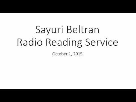 Sayuri Bee Radio Reading Service