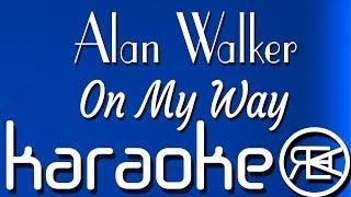On My Way - Alan Walker, Sabrina Carpenter & Farruko | Karaoke instrumental with lyrics