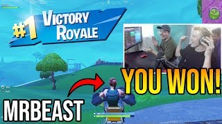 Tfue Lets MrBeast *TAKE OVER* His Fortnite Account & Lets Him Get His First Solo Win