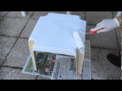 Pintar una mesa de plastico o resina youtube - Mesa resina infantil ...