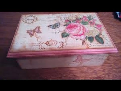 Como decorar una caja estilo vintage hogar tv por juan gonzalo angel youtube - Decorar baul vintage ...