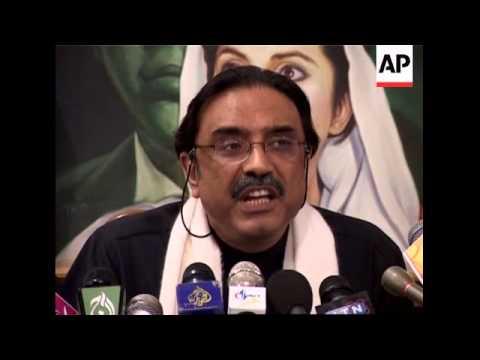 Zardari news conference