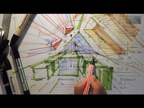 Fast Sketch -  Direct Design One-point perspective