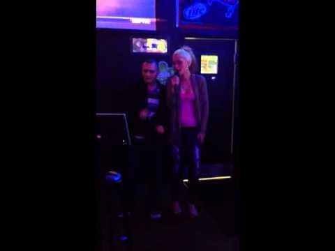 Derrick karaoke with Shawni