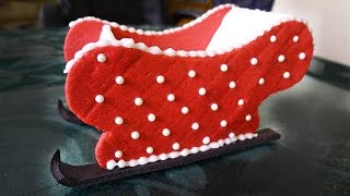 Christmas And New Year Cake (part 1 How To Make A Santa's Sleigh)