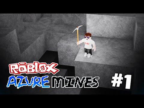 Azure Mines #1 - DIGGING DEEP HOLES (ROBLOX AZURE MINES)