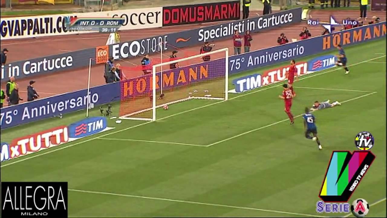 DIEGO MILITO FANTASTICO GOL - ROMA INTER 0-1 - FINALE COPPA ITALIA -  05-05-2010 - YouTube