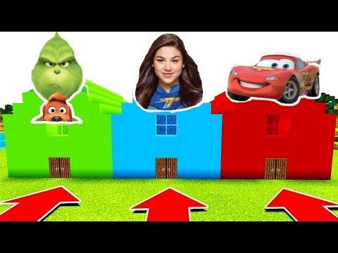 NE RENTREZ PAS DANS LA MAUVAISE MAISON MINECRAFT !! Grinch, Cars, Thunderman