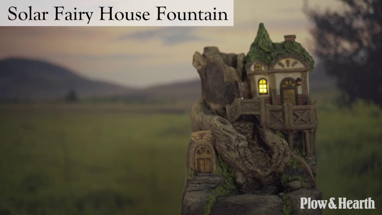 Solar Fairy House Fountain SKU 54497