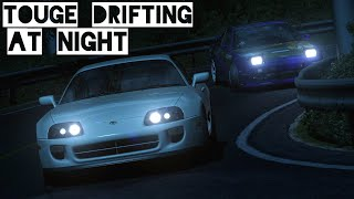 Drifting a Nissan 180SX in the Traffic at Mount Akina at Night. I h...