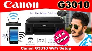 How to Connect Canon G3010 Printer to Mobile through wireless || Full Guide || TGIT