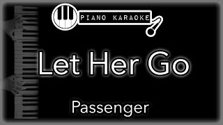 Let Her Go - Passenger - Piano Karaoke Instrumental
