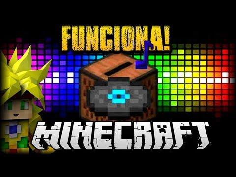 MINECRAFT PE 1.2 COMO HACER FUNCIONAR EL TOCADISCOS O CAJA DE MUSICA - JUKEBOX - DESCARGA MUSICA