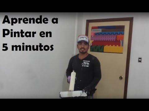 COMO PINTAR FACIL Y BIEN UNA PARED. (tutorial)  learn how to paint 5 min