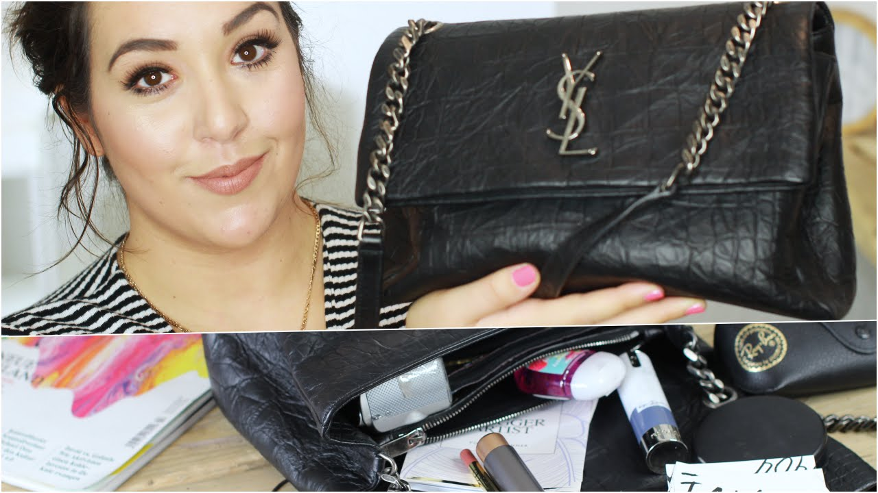 7f9ca0edf148 WHATS IN MY BAG I YSL MONOGRAM WEST HOLLYWOOD FALL 2016 I REVIEW DEUTSCH