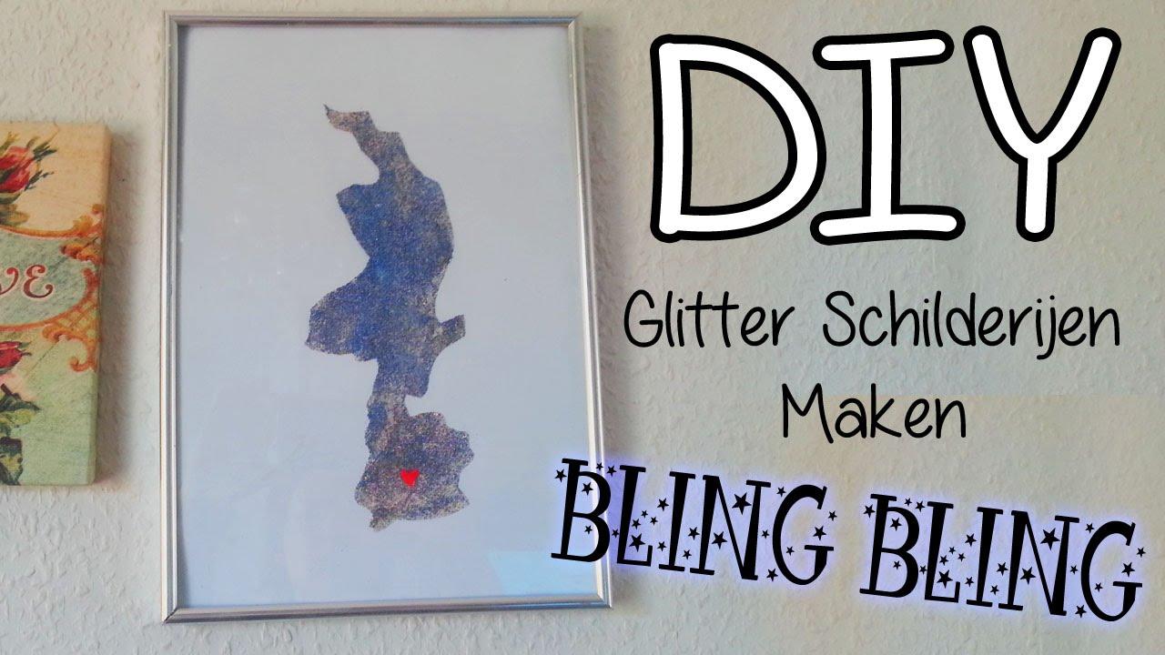Diy muur glitter je hometown decoratie leuk voor je kamer youtube - Decoratie usa voor kamer ...