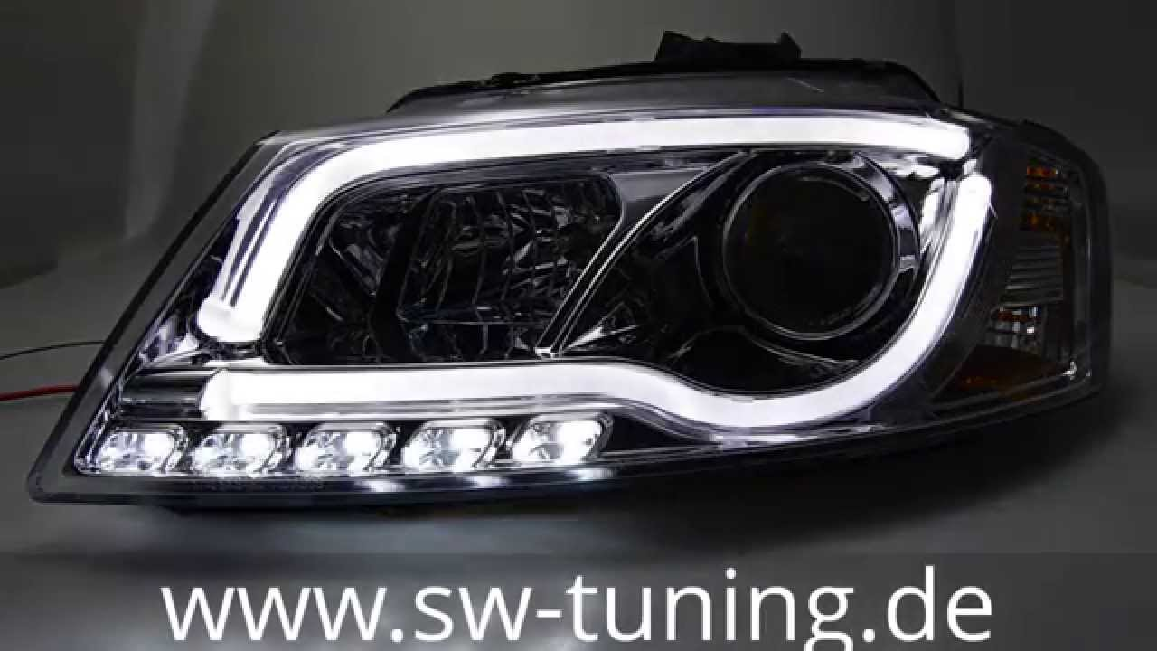 sw drltube scheinwerfer audi a3 8p1 facelift chrome. Black Bedroom Furniture Sets. Home Design Ideas